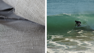 fibre de lin et surfeur